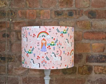 Princess lamp, girls bedroom lamp, princess decor, rainbow, unicorns, girls nursery, girls bedroom, girls bedroom light, table lamp, lamp