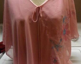 SALE Womens Pink Floral Plus Size Bling Rave Shirt Plus Size