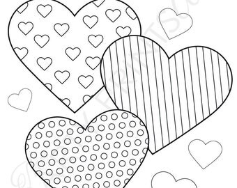 Color Your Heart Out Valentine's Day Cards- INSTANT DOWNLOAD