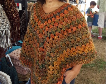 Harvest poncho and hat set