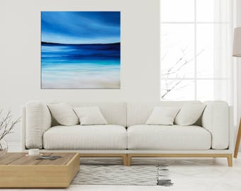 Beach Painting, Seascape art, Ocean Waves, Abstract art, Modern wall art, California beach, Coastal decor, Tropical art, Nikki Chauhan