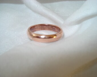 4mm Copper Healing Ring - A Sunshine and Energizer in Your Life