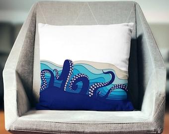 Octopus Pillow | Octopus Décor | Octopus Gift | Octopus Throw Pillow | Octopus Cushion | Octopus Decoration | Octopus Pillow Cover |