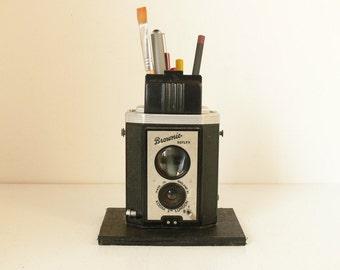 Really Cool - Kodak Brownie Reflex Pencil Pot / Desk Tidy - Ideal For Any Shutterbug