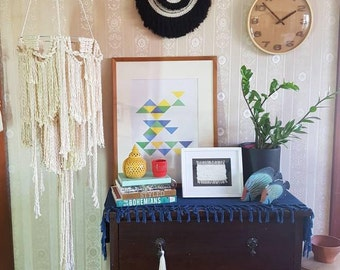 Macrame/Mobile/Lantern/Chandelier/Modern Macrame/Baby/Nursery/Bohemian/Boho/Light Shade/Home Décor/White/Cotton/Neutral/Natural/Hanging