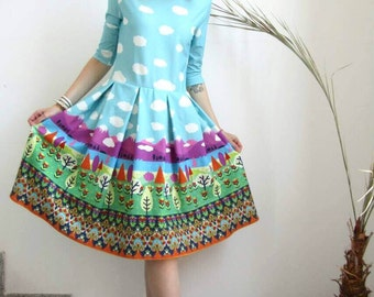 NEW Colorful Dress / Mini Dress / Hippie Dress / Sexy Printed Dress by FabraModaStudio / D115