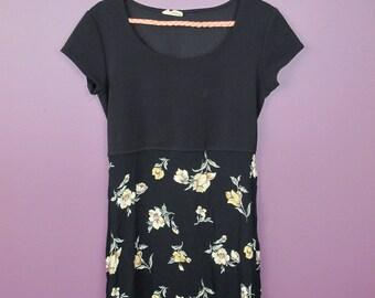 Reworked Vintage Floral Babydoll Dress