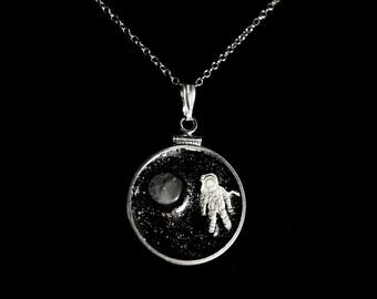 Moon Man Quarter Pendant
