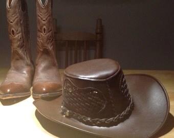 Cowboy hat,western look, cow boy cosplay ,steampunk,crocodile gundee cosplay hat