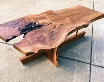 Nakashima Style Slab Coffee Table
