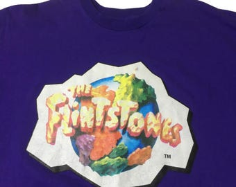The Flintstones Shirt - Purple Flintstones Tshirt - The Flintstones Tshirt - Grape Crush Shirt - Vintage Grape Crush Shirt - 90s Flintstones