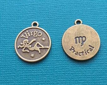 1 Virgo Zodiac Charm Bronze - CB2606