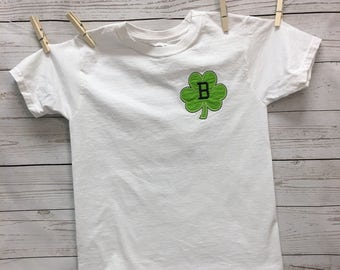 Shamrock Shirt, St Patricks Day, Girls Shamrock Shirt, Boys Shamrock Shirts, Kids Shamrock Shirt, Shamrock Applique, Monogrammed Shamrock,