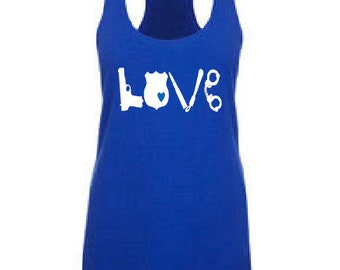 LOVE Police Support Tank Top