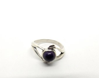 6 mm Natural Purple Amethyst Ring