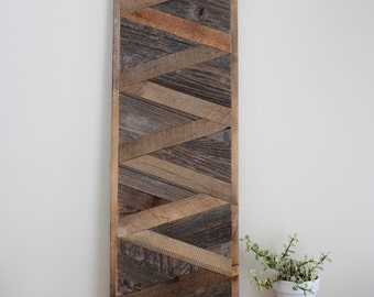 Rustic Wood Wall Art - XL Zig Zag