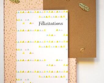 Pennants printed greeting card