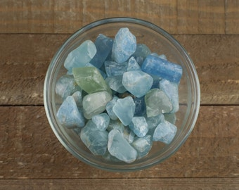 15g Small Tumbled Raw AQUAMARINE Crystals - Aquamarine Stone, Healing Crystal, Wire Wrap Aquamarine Ring, Aquamarine Jewelry Making E0045