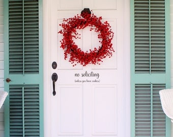 No Soliciting (unless you have cookies) Front Door Decal