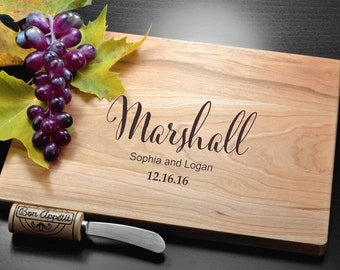 Personalized Wedding Gift, Custom Engraved Cutting Board, Personalized Cutting Board, Custom Housewarming Gift, Bamboo Cutting Board, Custom
