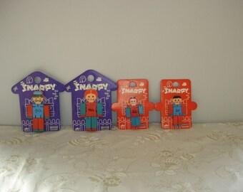 4 Figurines Snappy Galba Baravelli L'Educattolo. Poupées italiennes. Vintage