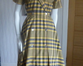 1950's style Tartan/Plaid shirtwaist dress