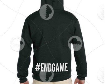 """Unisex - Premium Retail Fit """"#endgame"""" 2016 Pullover Hoodie, Hooded Sweater (S,M, L, XL+) Fashion - Oversized +"""