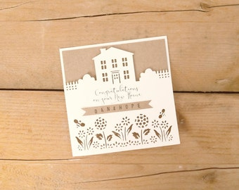 Personalised Papercut New Home / New Home Card / Housewarming Card / Moving Card / New House