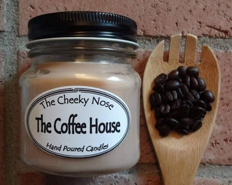 Soy Candle, Coffee Candle, Hazelnut Candle, Hazelnut Coffee Candle, Vanilla Hazelnut Candle, Scented Candle, The Coffee House Candle, Soy