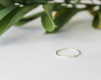 Sterling Silver Wave Ring, Wave Ring, Sterling Silver Ring, Minimalist Ring, Simple Silver Ring, Minimalist Wave Ring, Delicate Silver Ring