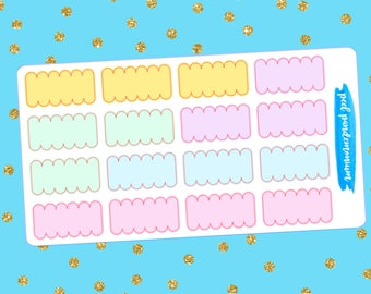 Pastel Mini Scallop Labels (R009)