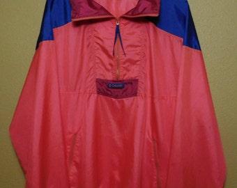 80s Columbia Neon Colorblock Windbreaker