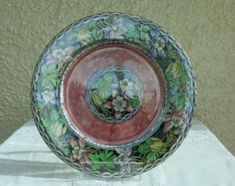 Vintage Maling Lustreware Decorative Plate