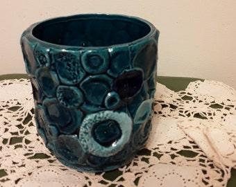 Vintage C#7698 Napcoware Blue Planter