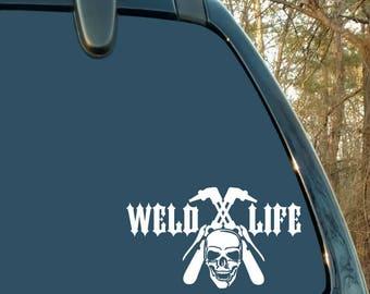 Welder Decal, Welding Decal, Pipefitter Decal, Car Decal, Laptop Decal, Sticker, Cup Decal, Man Gift, Woman Gift, Vinyl