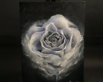 Blue Rose Oil Painting
