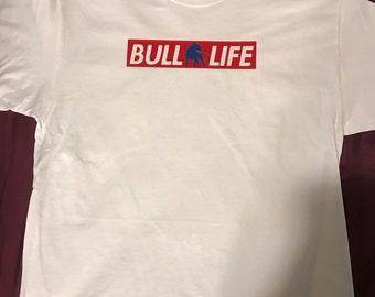 Bull Life design tee - red, white, blue