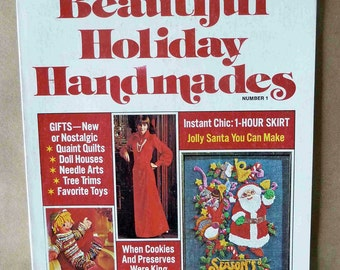 1977 Woman's Day Magazine - Beautiful Holiday Handmades - 1970s Gift Ideas - 1970s Holiday Crafts - Edible Gifts - Vintage Holiday Magazine