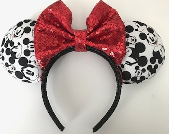 Disney Inspired Many Faces Of Mickey Minnie Mouse Ears