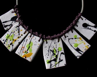 Abstract necklace earthenware