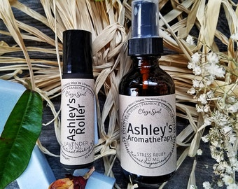 CUSTOM Aromatherapy Spray & Roller   Natural Perfume   Lavender   Ylang Ylang   Anti-Anxiety   Anti-Stress   Relax   Personalize Gifts