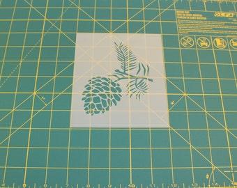 Pine Cone Stencil - Reusable DIY Craft Stencils of a Pine Cone