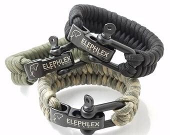 "ELEPHLEX Gear 8"" FISH TAIL Paracord Survival Bracelet 550lbs"