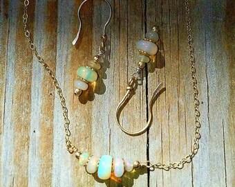 Opal Jewelry Gold, Opal Jewelry Set, Gold Opal Set, Opal Set, Opal Jewelry, October Birthstone, Opal Necklace, Opal Earrings, Gift for Her