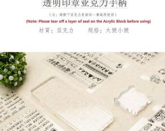 Acrylic Block, Clear Stamp Acrylic Block, Rubber Stamp Acrylic Block, clear stamps, Transparent stamps block, stamping block, stamp block