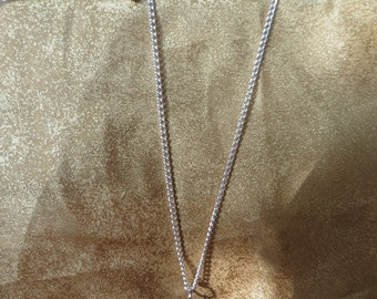 Blue Venetian glass heart necklace