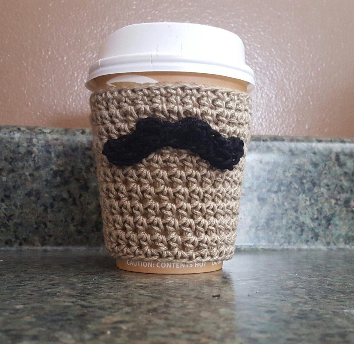 Crochet pattern coffee cozy crochet pattern mustache coffee zoom bankloansurffo Images