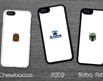 Star Wars Minimal Designs Yoda Stormtrooper Boba Fett Chewbacca r2d2 Iphone 6 / 6s / 6 plus / 7 / 7 plus Phone case Plastic /Silicone Rubber