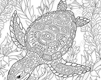Ocean World Turtle 3 Coloring Pages Animal Coloring Book Coloring Pages Turtle