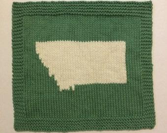Hand Knit Montana Cotton Washcloth Dishcloth